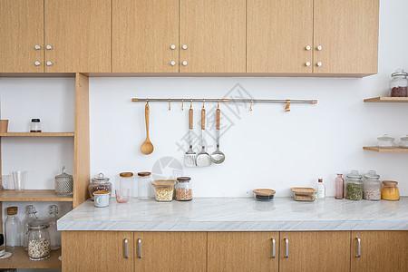 厨房整体橱柜尺寸_现代厨房效果图图片素材-正版创意图片501005838-摄图网