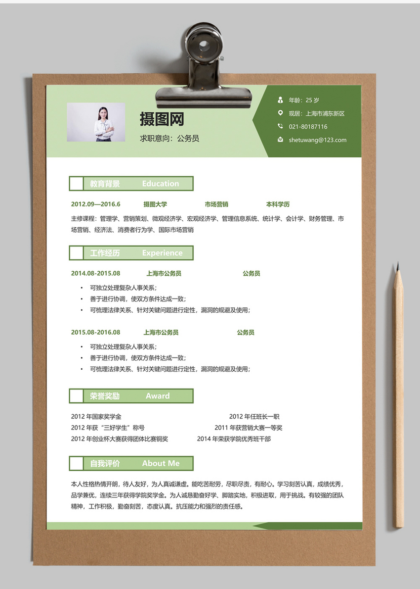 Civil Service Resume Template
